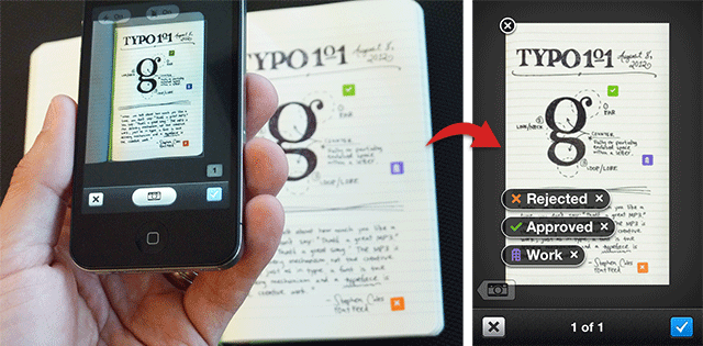 Evernote Page Camera pour Moleskine