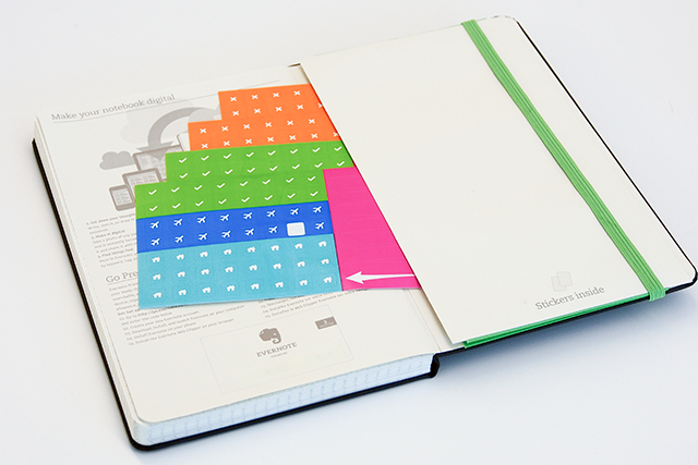 Moleskine stickers pour Evernote