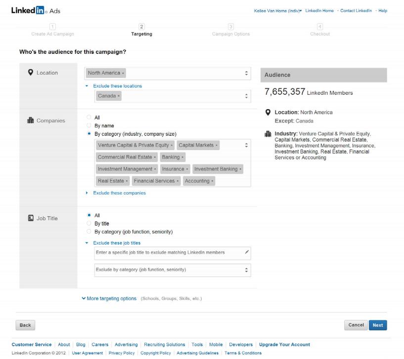 LinkedIn Ads : déterminer l'audience de votre campagne