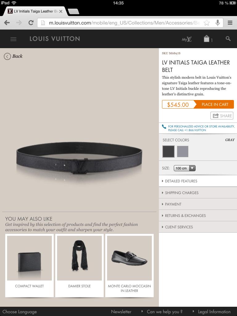 Louis Vuitton M-commerce avec un iPad