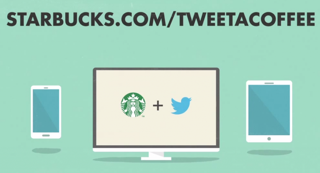 Tweet A Coffee par Starbucks et Twitter