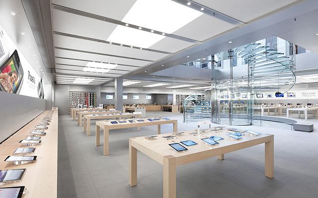Dès à présent tester iBeacon dans l'un des Apple Store aux États-Unis : ici, celui de la Fifth Avenue (NYC)