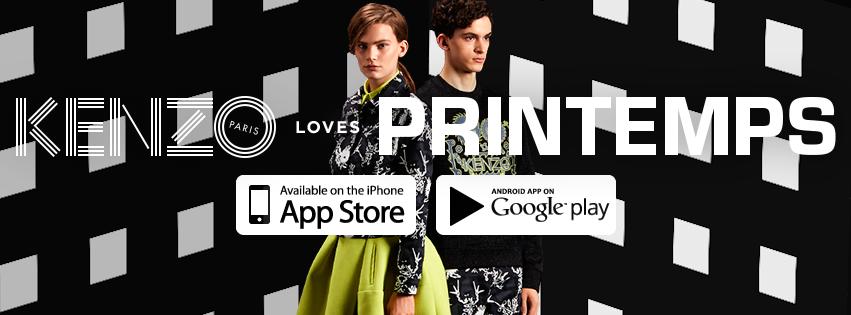 KENZO loves Printemps est disponible sur l'App Store et Google Play