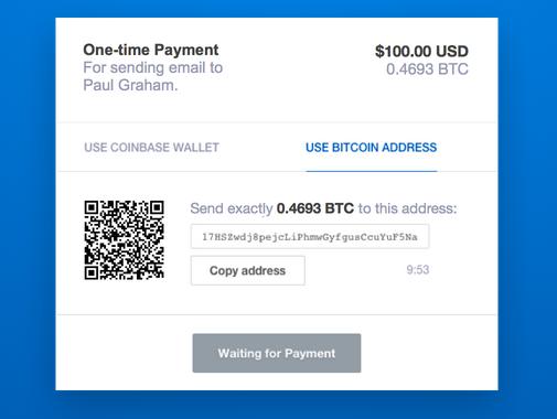 Une facture émise pour paiement en bitcoin