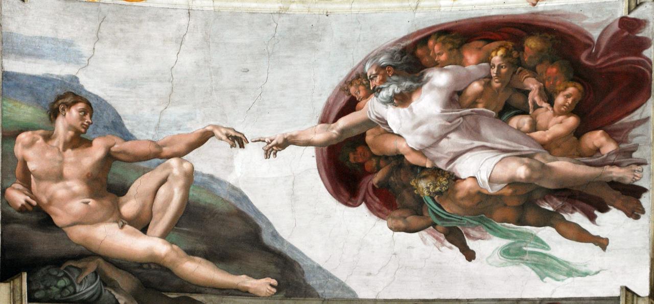 Et si les AdBlockers constituaient le salut de la publicité ? D'après La Création d'Adam de la chapelle Sixtine, Michel-Ange.