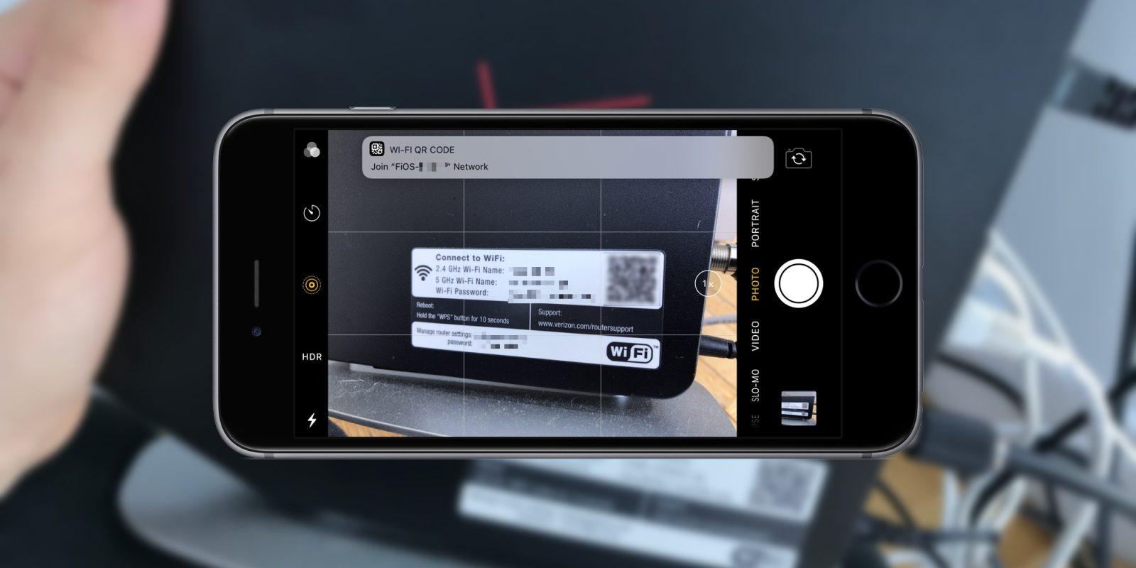 iOS 11 : connexion automatique au WiFi via QR code