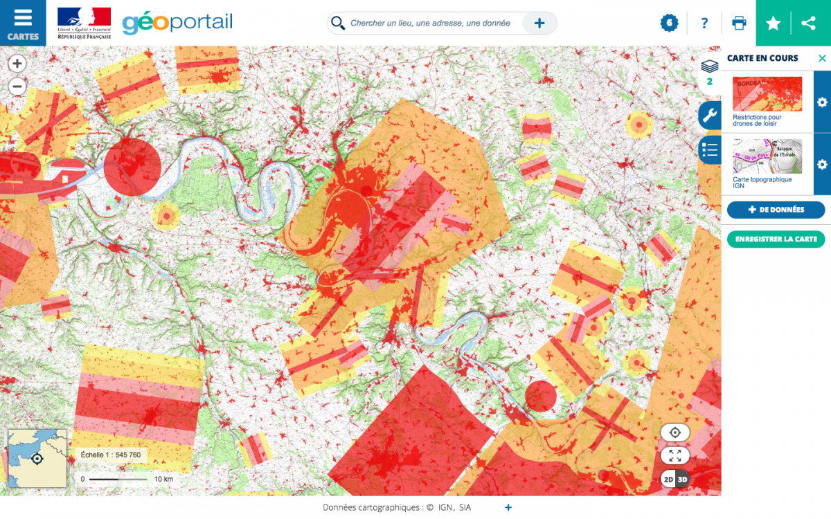 Utile : la carte des zones restreintes pour drones