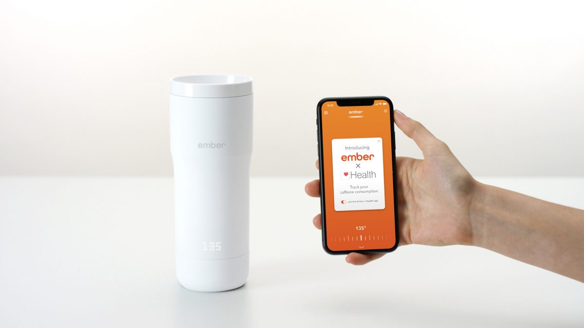 Ember Apple Health App with Travel Mug